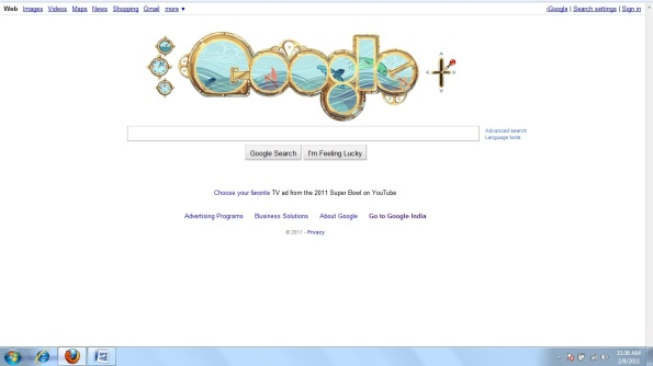 Google Doodle - Birthday of Jules Verne